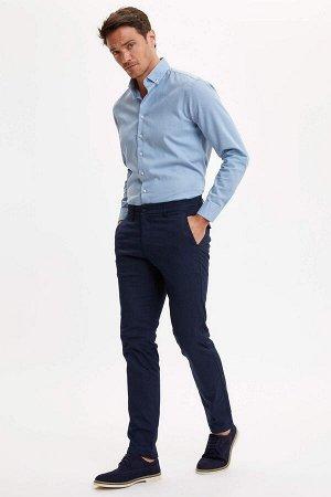 брюки Размеры модели: рост: 1,89 грудь: 100 талия: 81 бедра: 97 Надет размер: размер 32 - рост 32  Полиэстер 18%,Elastan 3%, Хлопок 79%