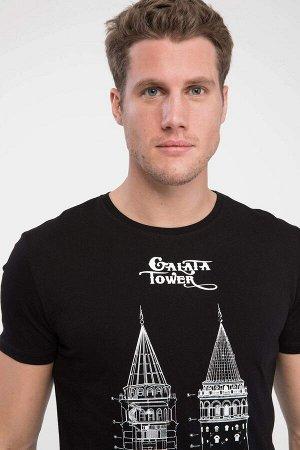 Футболка мужская Галатская башня