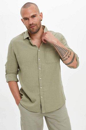 рубашка Размеры модели: рост: 1,82 грудь: 98 талия: 81 бедра: 96 Надет размер: L  Хлопок 100%