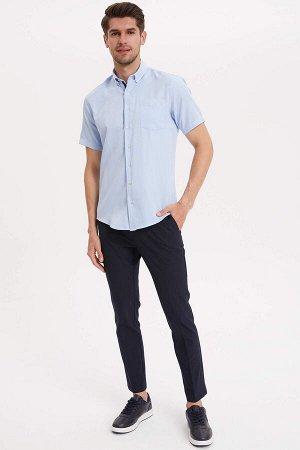 брюки Размеры модели: рост: 1,89 грудь: 100 талия: 74 бедра: 97 Надет размер: размер 32 - рост 30 Elastan 4%, Вискоз 33%, Полиэстер 63%