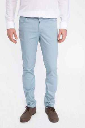 брюки Размеры модели: рост: 1,88 грудь: 100 талия: 80 бедра: 95 Надет размер: размер 30 - рост 32  Хлопок 97%,Elastan 3%