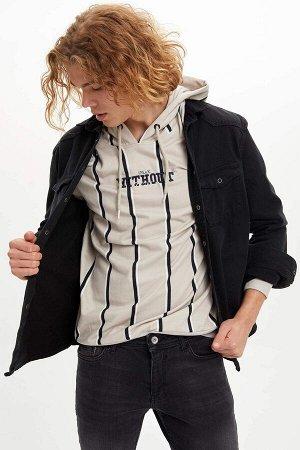 рубашка Размеры модели: рост: 1,88 грудь: 98 талия: 75 бедра: 94 Надет размер: M  Хлопок 100%