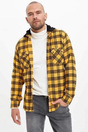 рубашка Размеры модели: рост: 1,88 грудь: 98 талия: 81 бедра: 94 Надет размер: M  Хлопок 70%, Полиэстер 30%