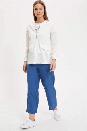 брюки Материал Размеры модели: рост: 1,77 грудь: 85  талия: 61  бедра: 90 Надет размер: 36 вискоз 80%,полиэстер 20%
