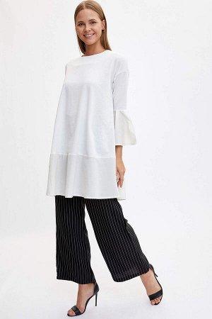 брюки Материал Размеры модели: рост: 1,77 грудь: 85  талия: 61  бедра: 90 Надет размер: 36 Хлопок 80%,полиэстер 20%