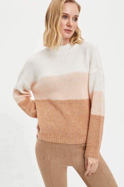 DEFACTO- осенняя подборка - платья, свитеры, кардиганы.  — Свитеры белые, розовые, экрю — Свитеры