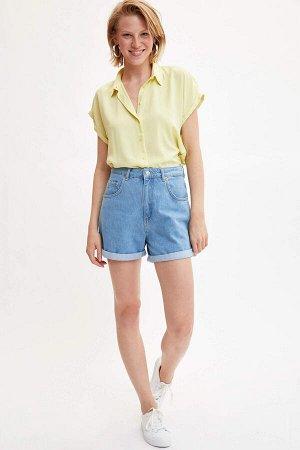 Рубашка желтая