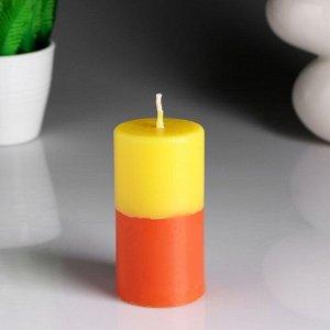 """Свеча- цилиндр """"Лимон- апельсин"""" ароматическая, 5,2?9,5 см"""