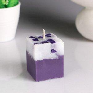 """Свеча- куб с мозаикой """"Ягодная корзина"""" ароматическая, 5?6 см"""