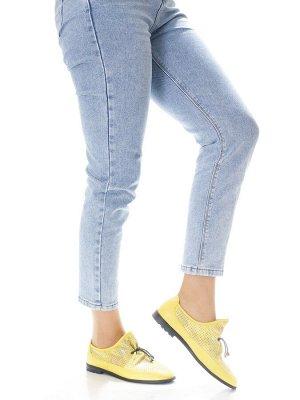 Туфли Страна производитель: Турция Полнота обуви: Тип «F» или «Fx» Материал верха: Натуральная кожа Цвет: Желтый Материал подкладки: Натуральная кожа Стиль: Повседневный Форма мыска/носка: Закругленны