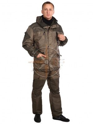 костюм Шторм на флисе дмс (таслан хаки)