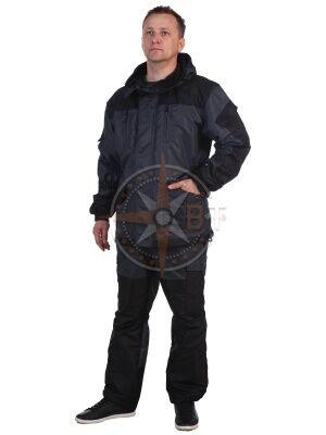 костюм Шторм на флисе дмс (таслан серый)