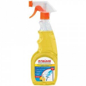 """Средство для мытья стекол и зеркал 750 мл, ЛАЙМА PROFESSIONAL """"Лимон"""", распылитель, 604653"""