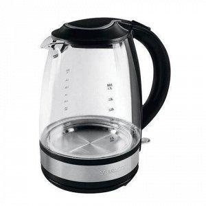 Чайник SCARLETT SC-EK27G31, 1,7 л, 2200 Вт, закрытый нагревательный элемент, стекло, SC - EK27G31