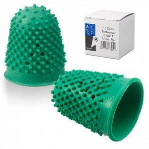 Напальчник для бумаги резиновый, диаметр 20 мм, высота 32 мм, ALCO (Германия) 767, зеленый, 811526