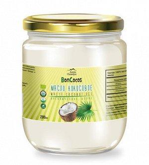 Масло кокосовое, органика БЕЛОЕ (с мякотью кокоса),200мл, ст/б