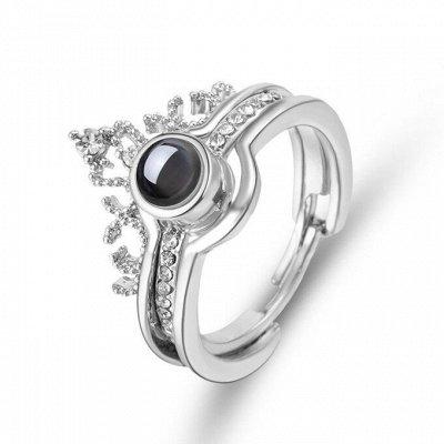 Мир аксессуаров для взрослых и детей! 3 — Безразмерное кольцо с проекцией Любовь Моя — Кольца бижутерия