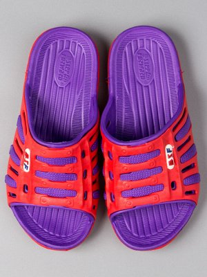 Шлепанцы из ЭВА женские, двухцветные, фиолетовый