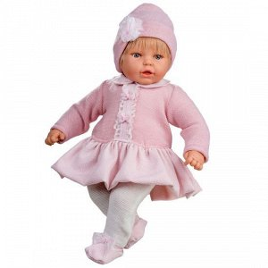 30074b Mi Nene Nina Traje Volantes Gorro Rosa - Девочка в розовом (60 см)