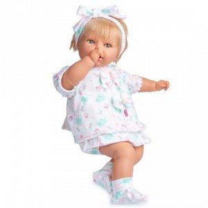 30077b Mi Nene Nina Vestido Punto Estampado - Девочка в светлом костюме (60 см)