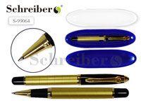 Пластиковый футляр с прозрачной крышкой, 17х4,5см, + металлическая капиллярная ручка AN 2270
