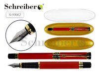 Пластиковый футляр с прозрачной крышкой, 17х4,5см, + металлическая перьевая ручка AN 2266