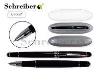 Пластиковый футляр с прозрачной крышкой, 17х4,5см, + металлическая перьевая ручка AN 2273