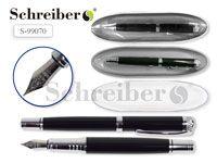 Пластиковый футляр с прозрачной крышкой, 17х4,5см, + металлическая перьевая ручка AN 2276