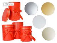Набор подарочных коробок ЦИЛИНДР 3 шт.(16.5x22.5cм, 15x19.5cм, 13.5x16.5cм)
