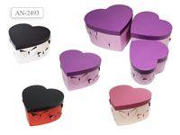 Набор подарочных коробок СЕРДЦЕ 3 шт.(28.5x26x15cм, 23.5x22x13.5cм, 19x18x12cм)
