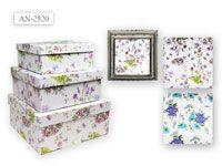 Набор подарочных коробок КВАДРАТ 3 шт.(28x28x12.8cм, 24x24x10.8cм, 20x20x9cм)
