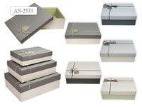 Набор подарочных коробок, 3шт, ПРЯМОУГОЛЬНЫЕ (33,5х25х11,5см)  (29х21х9см)  (24х17х6,5см)