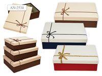 Набор подарочных коробок, 3шт, ПРЯМОУГОЛЬНЫЕ (29х21х9см)  (26х19х8см)  (24х17х6,5см)
