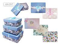 Набор подарочных коробок ПРЯМОУГОЛЬНЫЕ, 3шт (28х21,5х11)  (25,5х18,5х10)  (22,5х15,5х9)
