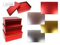 Набор подарочных коробок ПРЯМОУГОЛЬНИК 3 шт.(30.5x22x12.5cм, 28.5x20x11.5cм, 26.5x18x10.5cм)