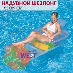Надувной шезлонг для отдыха на воде 165х89 см