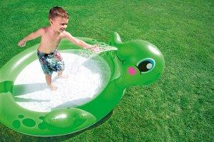 """Игровой бассейн Bestway """"Черепаха"""" 180х152х66 см, 135 л с брызгалкой"""