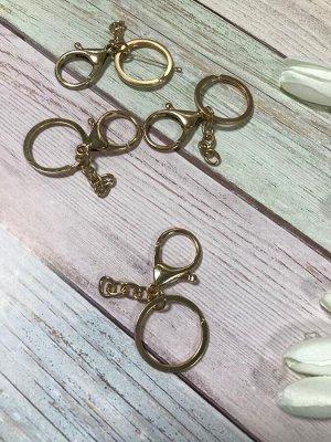 Карабин для брелков с кольцом и цепочкой 3,5см