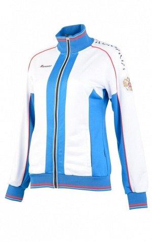 W05340G-WA161 Костюм спортивный женский (белый/голубой), L, шт