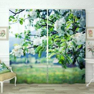 Фотошторы Цветущая яблоня