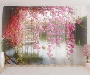 Фототюль Цветый в китайском парке