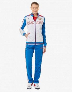 W05320G-FF172 Костюм спортивный женский (белый/голубой), XL, шт