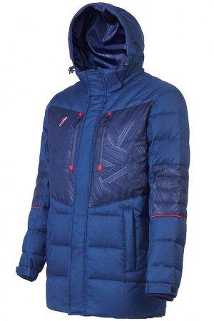 M08150G-NN182 Куртка пуховая мужская (синий), M, шт