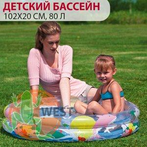 Детский круглый бассейн Bestway 102х20 см, 80 л