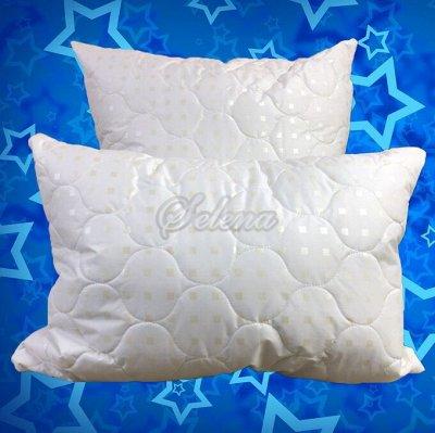 Постелька. Шикарный выбор и цены  — подушки шелковое волокно — Двуспальные и евроразмер