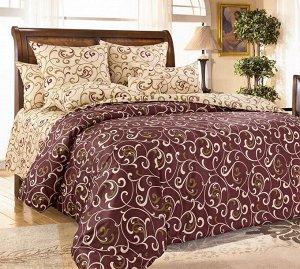 Комплект постельного белья 2-спальный, поплин (Вензель)