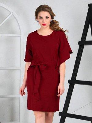 Платье 132/2, бордовый