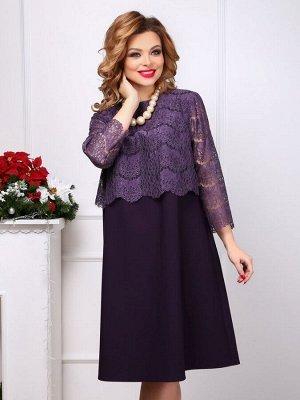 Платье 100, фиолетовый