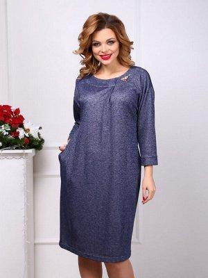 Платье 094, синий металлик