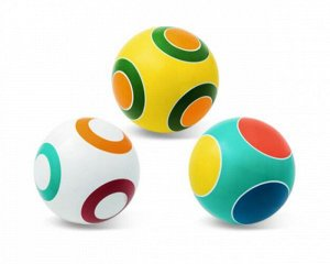"Мяч д. 200 мм. ""Кружочки"" ручное раскрашивание (фонарик,светофор,колечко)"